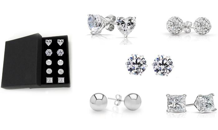 popular design low price brand quality Up To 73% Off on Swarovski Elements Stud Set | Groupon Goods