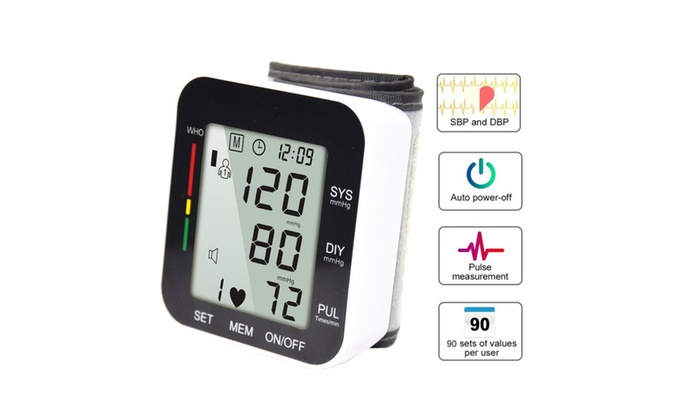 Up To 80% Off on Automatic Digital Wrist Blood    | Groupon