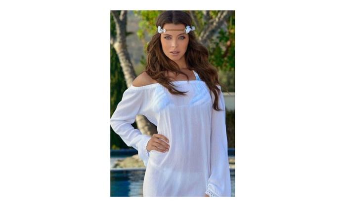 Women Short Loose Sleevess Lace Beachwear – ZWWB819