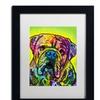 Dean Russo 'Hey Bulldog' Matted Black Framed Art