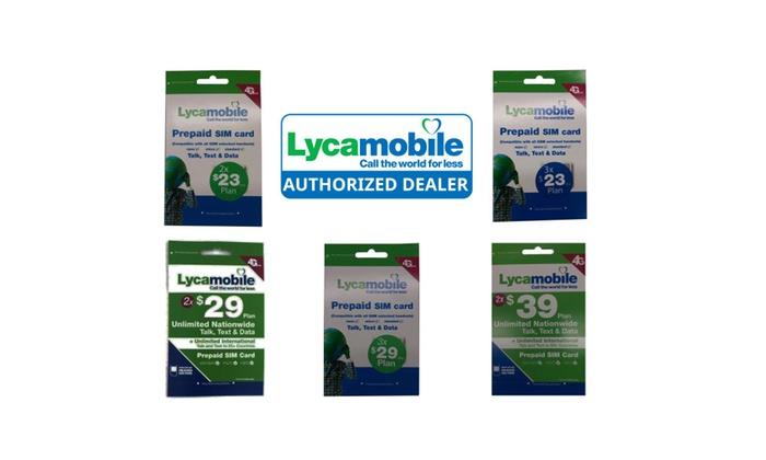Preloaded Lycamobile Triple Punch Sim Card $23 $29 $39 2/3