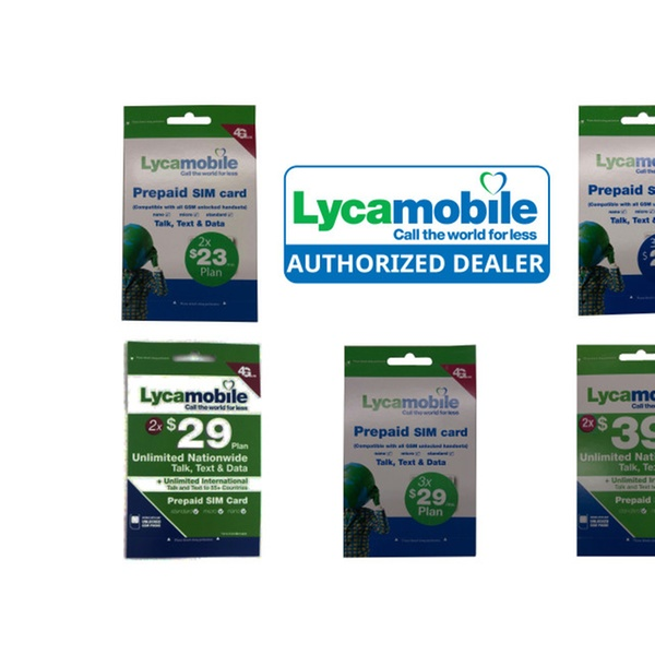 Preloaded Lycamobile Triple Punch Sim Card $23 $29 $39 2/3 Months