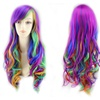Women 80cm Big Long Curly Wigs Fashion Cosplay Hair Anime Party Wigs