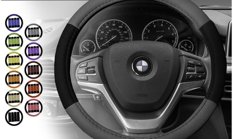 Modernistic Universal Fit Steering Wheel Cover and Seat Belt Pads FH2033-G
