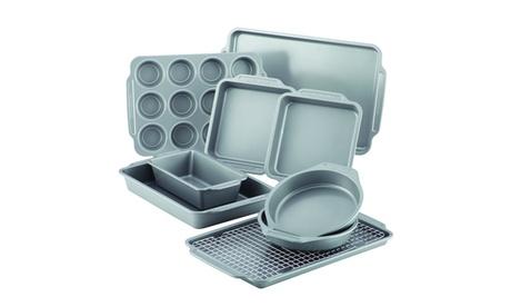 Farberware Nonstick Bakeware Set with Cooling Rack (10-Piece)