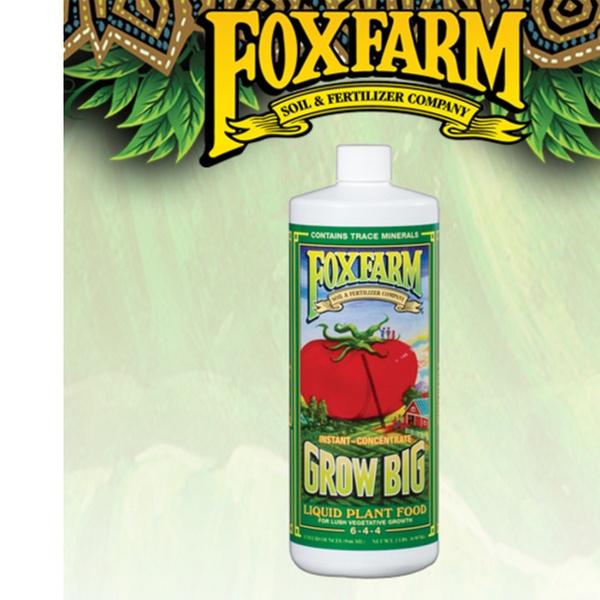 Fox Farm Grow Big - Liquid Plant Fertilizer - 32 oz Bottle