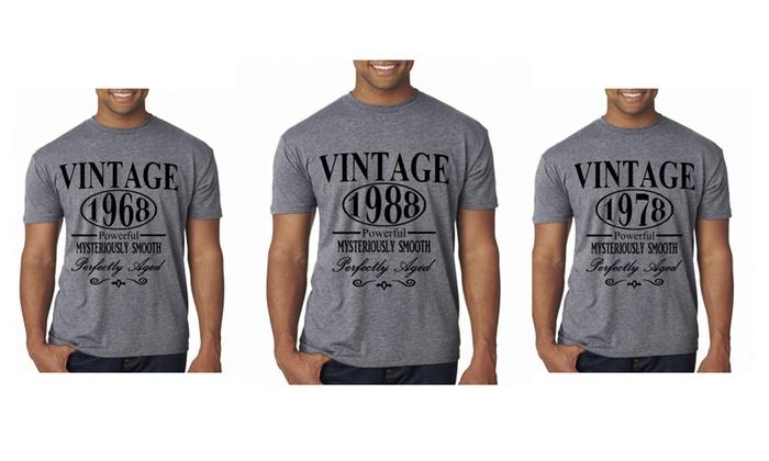 Custom Date Birthday Shirt Vintage 1968 50th 1978 40th