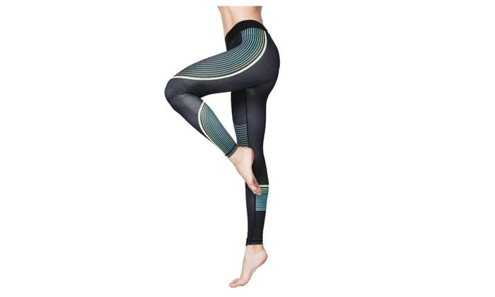 Fashion Printed Yoga Workout Stretch Leggings Patterned Pants