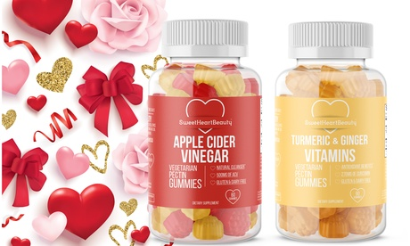 Valentines Day Turmeric Ginger & Apple Cider Vinegar Gummy Gift (1-or 2-Pack)
