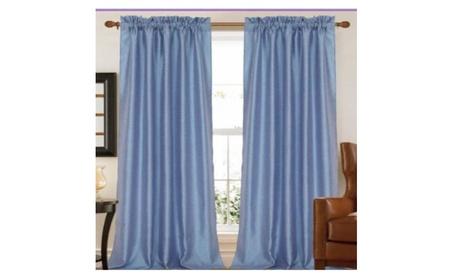 Kashi Home CP026070 55 x 84 In. Elise Two Tone Faux Silk Curtain Panel 384b2c75-4bfa-4051-8aee-c12f6b0af144