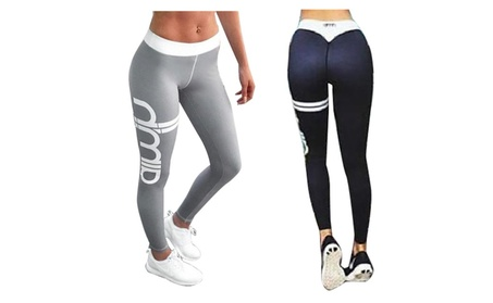 Female Hip Letters Quickly Dry Thin Fitness Pants 9a2f09b8-188f-4c74-bec5-71844273f3e5