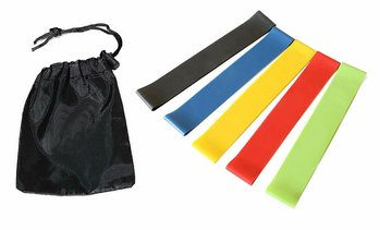 Resistance Loop Exercise Bands Carry Bag - Set of 5