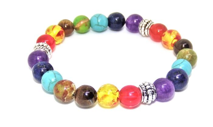 Chakra Bracelet Energy Stone Beads For Healing And Meditation
