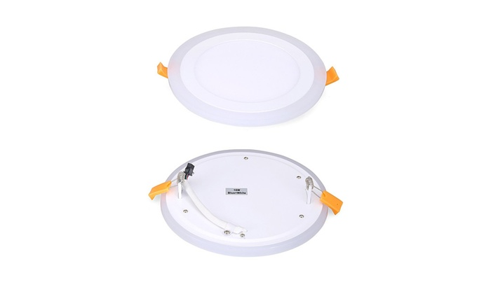 Double Color White And Blue Led Recessed Lighting Ceiling Light