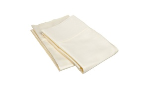 Superior 300 Thread Count 100% Egyptian Cotton Solid Pillowcase Set