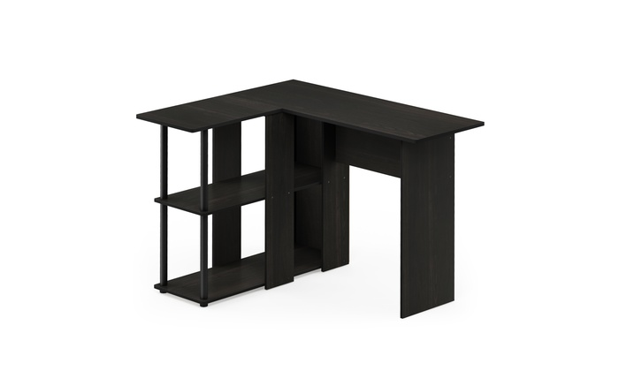 Furinno Abbott L Shape Desk With Bookshelf