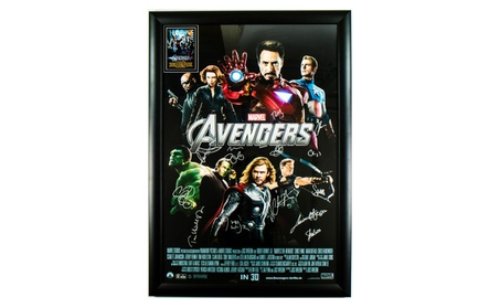 The Avengers Signed Movie Poster in Wood Frame with COA 258aa9c4-beeb-4b2f-8729-437526152578