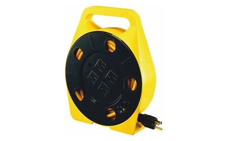 Power Zone PZ-755 25 Ft. 4 Outlet 16 By 3 Cord Reel 0043f02c-27e4-49bb-8bf2-a0b6262352cd