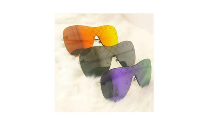 Sunglasses Metal & Plastic Material Rimless Runway Designer