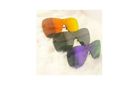 Sunglasses Metal & Plastic Material Rimless Runway Designer 7abb4ad8-ce9f-4289-aee6-264f51d00f9a