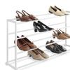 20 Pair Floor Shoe Rack, White