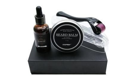 Derma Roller Beard Growth Kit Beard Oil for Men Facial Hair Growth Gift for Men