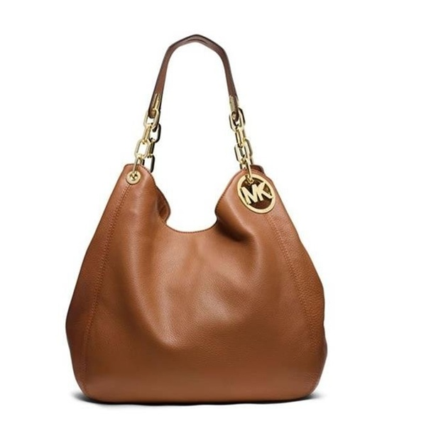 52aa28cac835 Michael Kors Fulton Large Leather - Tote - Acorn - 30H3GFTE3L-532 | Groupon