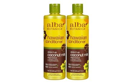 Alba Botanica Hawaiian Conditioner Coconut Milk, 12 oz Pack of 2 82e97171-3d49-41c2-b3c3-f306c8270aec
