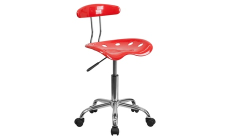 Vibrant Chrome Task Chair with Tractor Seat 1656a612-6513-4e58-af17-90d9f0da8229