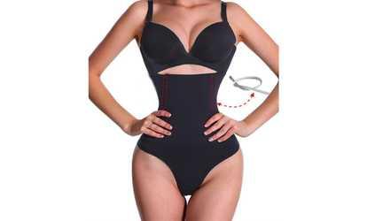 ea67aef5bbde2 Shop Groupon LAGGRA Women High Waist Tummy Trainer Body Shaper Thong Panty  Shapewear