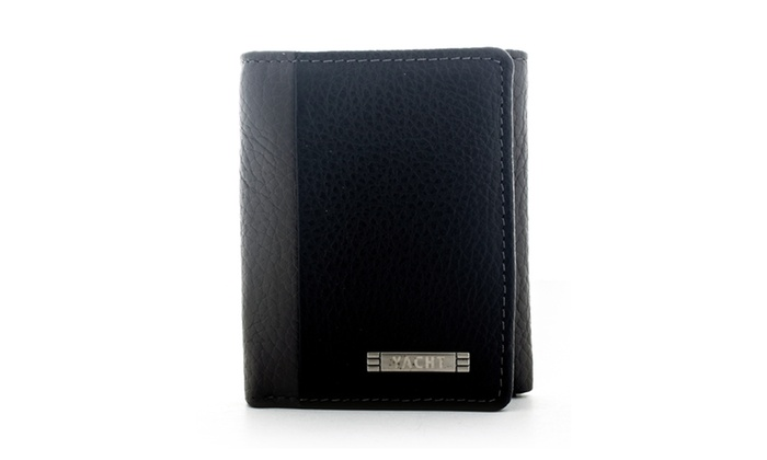 Yacht Men's Leather Trifold Wallet WLT-TK5108 in Grey