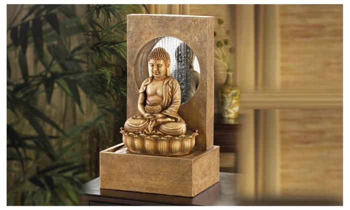 Zen Buddha Tabletop Fountain