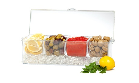 Kitchen Details 4.5L 4 Section Condiments Tray on Ice 4b0a0455-a077-4a28-b2e9-2891b76f38cf