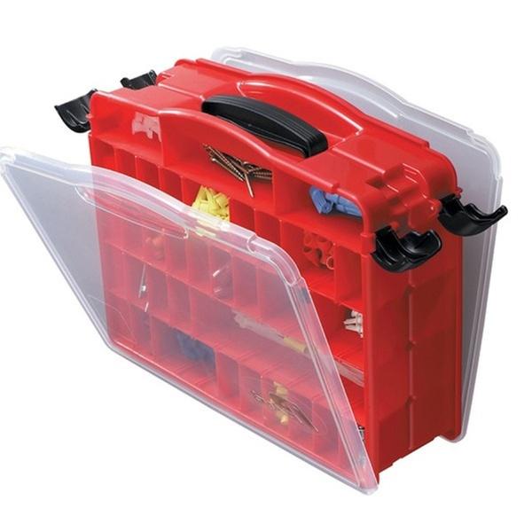 Plano Double Cover Lockjaw Organizer Adjustable Compartments Store Small Parts