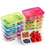 Meal Containers for Kids 3 Compartment Lunch Box Portion Food Storage
