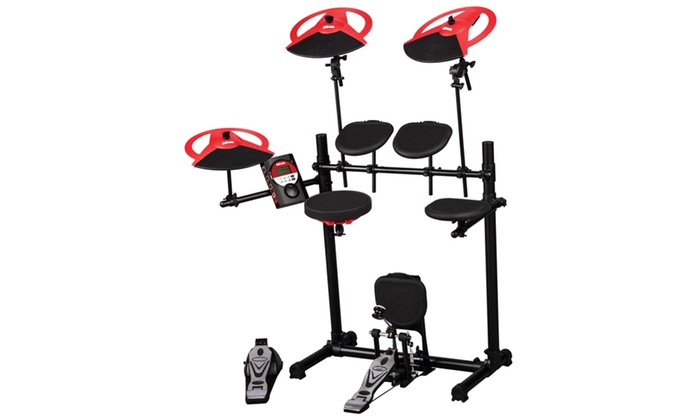 ddrum dd beta xp 5 piece electronic kit dual zone snare drum groupon. Black Bedroom Furniture Sets. Home Design Ideas
