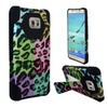 Insten Leopard Hybrid Case For Samsung Galaxy S7 Edge Colorful/black