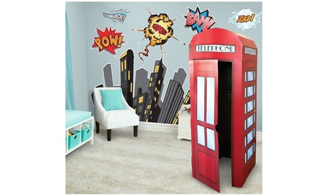 Superhero Comics Giant Wall Decal and Standup Kit ee0b92c0-ff97-4770-bd25-134f3a31d908
