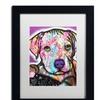 Dean Russo 'Baby Pit' Matted Black Framed Art