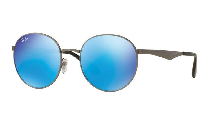 ec348ee795e851 Ray Ban Round Metal Mirrored Sunglasses