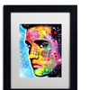 Dean Russo 'Elvis Presley' Matted Black Framed Art