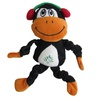 Christmas Monkey Holiday Plush Stuffed Squeaky