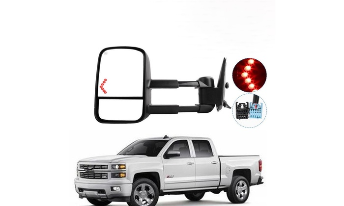 New Left Side Power Tow Mirror w// Heat /& Glass Signal for Chevy//GMC Truck 03-06