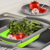 Space-Saving Collapsible Over-The-Sink Colander