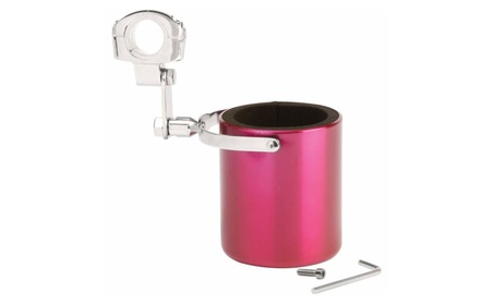 Diamond Plate Pink Stainless Steel Motorcycle Cup Holder 595e03ce-0c98-442b-ab1f-e3581dfb0ae3