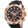 Joshua & Sons Men's Chronograph Leather Strap Watch JXGP109