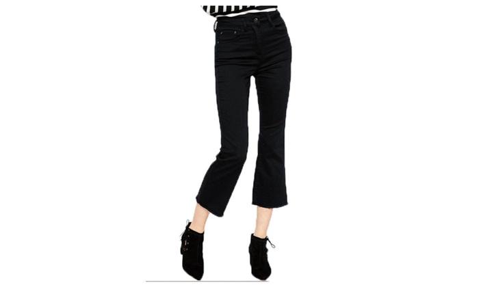 chalmart: Stylebek Women's Zip Up With Button Closure High-Rise Korean Pants