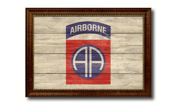 82nd Airborne Military Insignia Flag Handmade Home Decor Souvenir