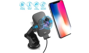 Insten Auto Open Wireless Car Charger Mount Holder w/ Suction Arm for Cellphones