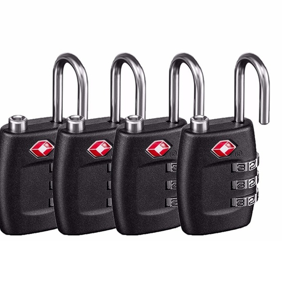 69db04e7c795 3 Digit Combo TSA Luggage Locks (x4)